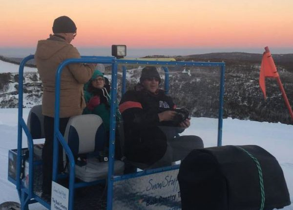 sunset sled trip hotham